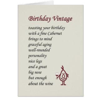 Cartes Cru d'anniversaire - un poème drôle d'anniversaire