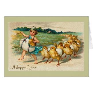 Cartes Cru de défilé de poussin de Pâques
