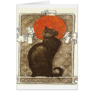 Cartes cru de Français de chat noir