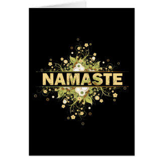 Cartes Cru de Namaste floral