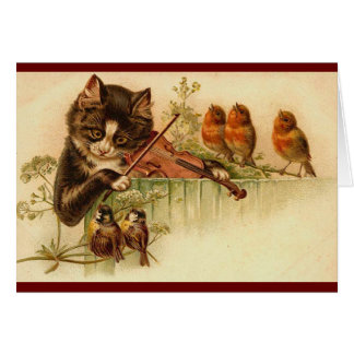 Cartes Cru - le chat musical