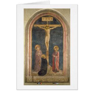 Cartes Crucifixion avec la Vierge, solides solubles. John
