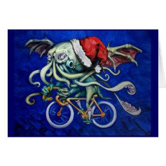Cartes Cthulhu sur une bicyclette