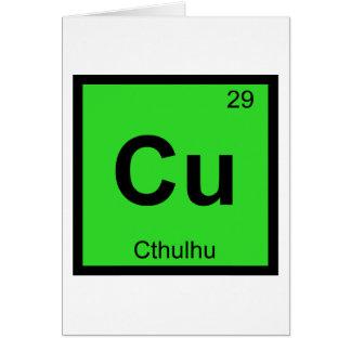 Cartes Cu - symbole de Tableau périodique de chimie de