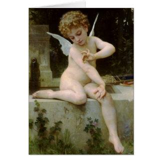 Cartes Cupidon avec un papillon