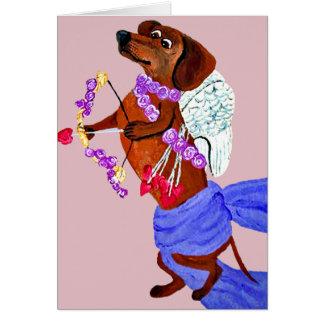 Cartes Cupidon de teckel