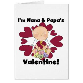 Cartes Cupidon Nana de garçon et T-shirts de Valentine du