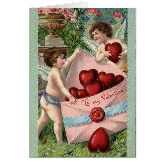 Cartes Cupidons vintages Valentine