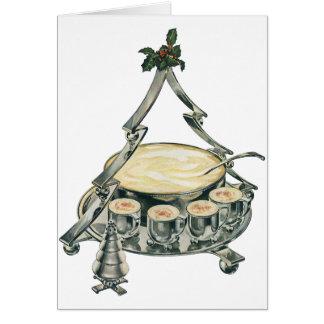 Cartes Cuvette de poinçon vintage d'arbre de Noël avec le
