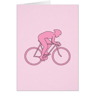 Cartes Cycliste dans le rose