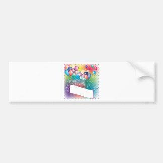 Cartes d invitation de fête d anniversaire de ball autocollant pour voiture