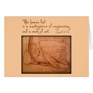 """Cartes da Vinci : """"Le pied humain est… """""""
