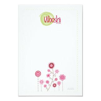 Cartes d'affichage d'agrafe de cheveux de Wooshi Carton D'invitation 8,89 Cm X 12,70 Cm