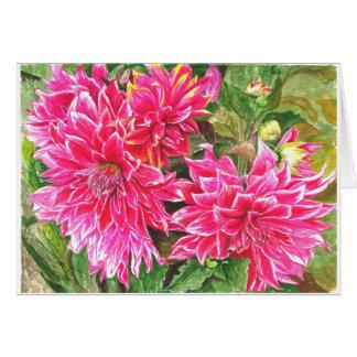 Cartes Dahlias en pleine floraison