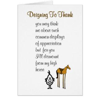 Cartes Daigner à remercier - un drôle vous remercie poème