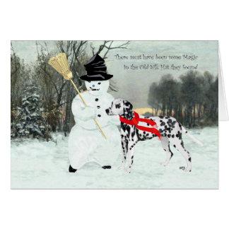 Cartes Dalmate dans la neige d'hiver