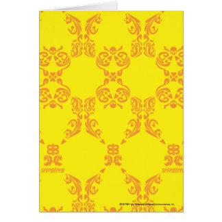 Cartes Damassé jaune-orange