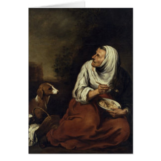 Cartes Dame âgée avec le chien