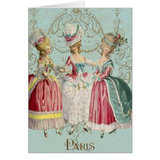 Cartes Dames de Paris de Français de Marie Antoinette