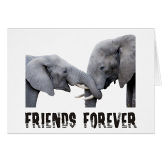 Cartes D'amis étreindre d'éléphants pour