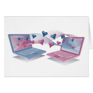 Cartes d'amour d'ordinateur portable