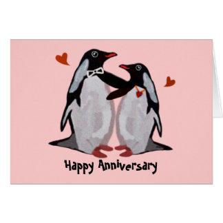 Cartes d'anniversaire d'amour de pingouin