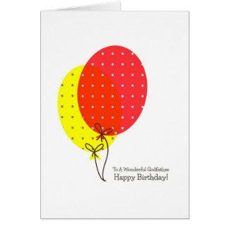 Cartes d'anniversaire de parrain, grands ballons c