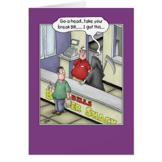 Cartes d'anniversaire drôles : Coup d'hamburger