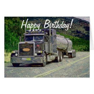 Cartes d'anniversaire drôles de camionneur de