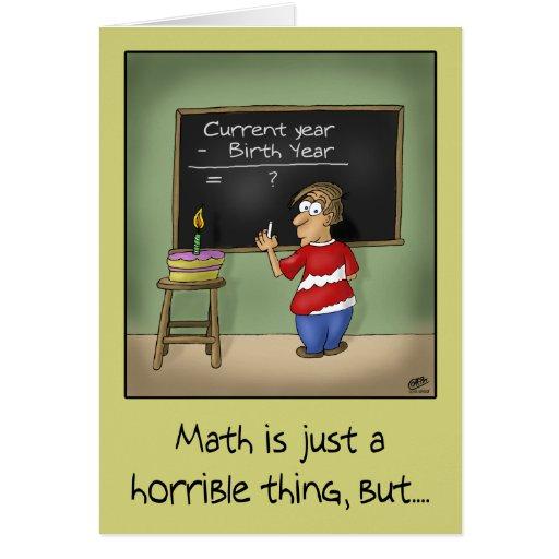 Cartes d'anniversaire drôles : Maths d'anniversair