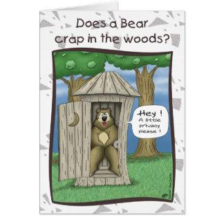 Cartes d'anniversaire drôles : Ours dans les bois