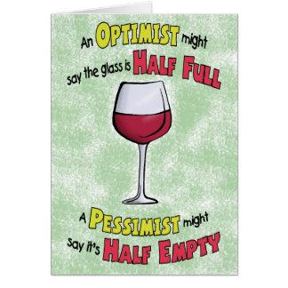 Cartes d'anniversaire drôles : Philosophie de vin