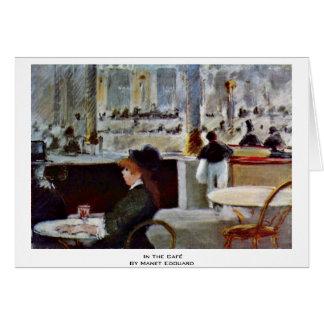 Cartes Dans le Café par Manet Edouard