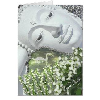 Cartes Dans le jardin - Quan Yin et fleurs