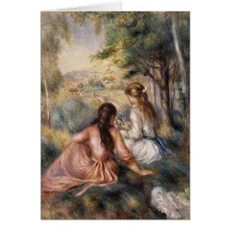 Cartes Dans le pré par Pierre-Auguste Renoir