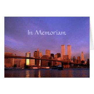"""Cartes """"dans le World Trade Center NYC de Tours jumelles"""