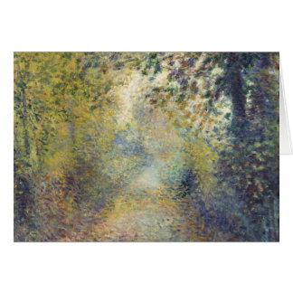 Cartes Dans les bois par Pierre-Auguste Renoir