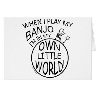 Cartes Dans mon propre petit banjo du monde