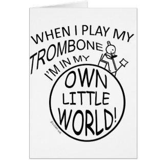 Cartes Dans mon propre petit trombone du monde