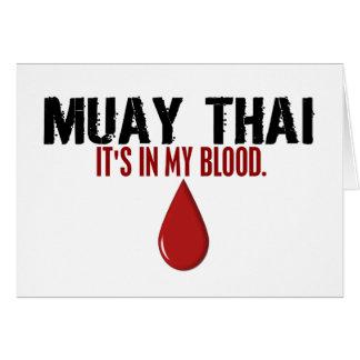 Cartes Dans mon THAÏLANDAIS de MUAY de sang
