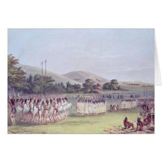 Cartes Danse de Boule-Jeu de Choctaw, 1834-35