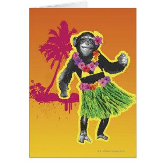 Cartes Danse de danse polynésienne de chimpanzé