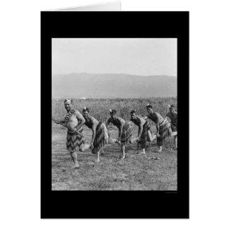 Cartes Danse de guerre maorie 1917