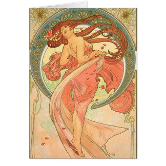 Cartes Danse vintage par Alphonse Mucha