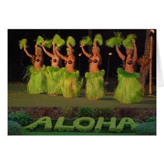 Cartes Danseurs de danse polynésienne