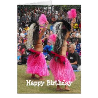 Cartes Danseurs de danse polynésienne de Luau, Maui