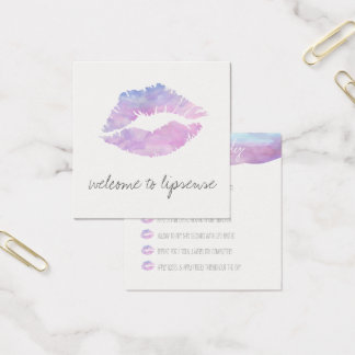 Cartes d'application lilas d'aquarelle