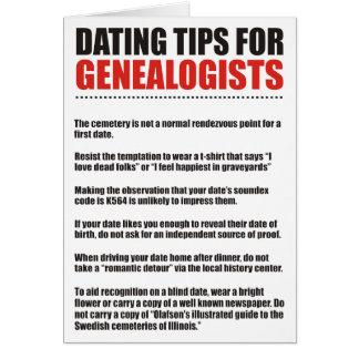 Cartes Dater des bouts pour des généalogistes