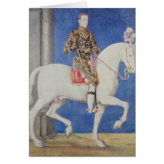 Cartes Dauphin équestre Henri de portrait II