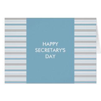 Cartes Day de bleuet Amara de rayure de secrétaire